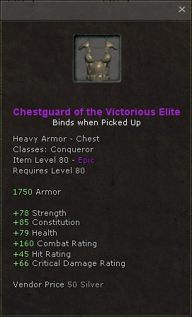 Chestguard of the victorious elite