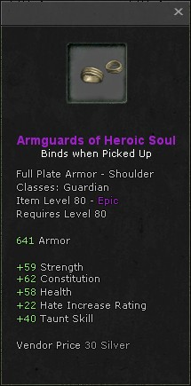Armguards of heroic soul