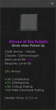 Gloves of the ecliptic