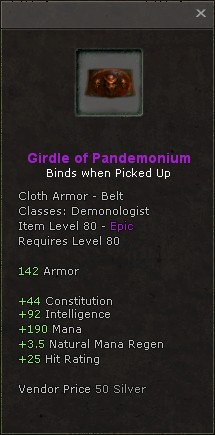 Girdle of pandemonium