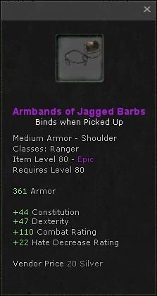 Armbands of jagged barbs