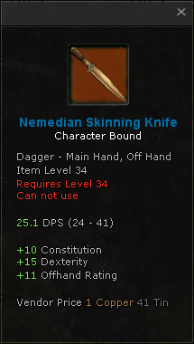 Nemedian Skinning Knife Jun09
