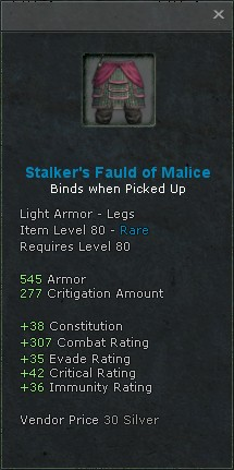 Stalkers fauld of malice