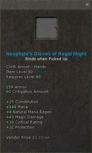 Neophytes gloves of regal might