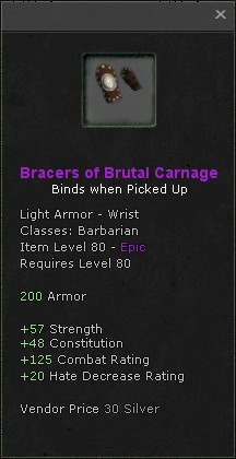 Bracers of brutal carnage