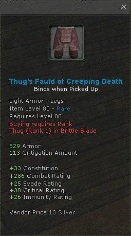 Thugs fauld of creeping death