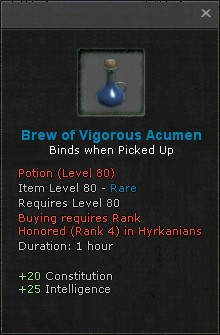 Brew of vigorous acumen