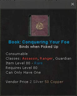 Book conquering your foe