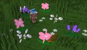 Nekoette picking flowers