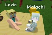 Levin and malachi playing together 5