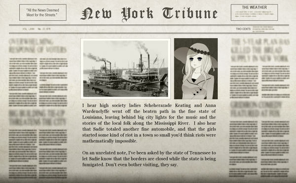 The Quickfinger Adventure Newspaper