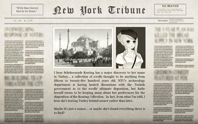 Felix Turkish Adventure Newspaper