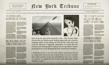Nigel Egyptian Adventure Newspaper