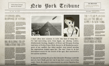 Felix Egyptian Adventure Newspaper
