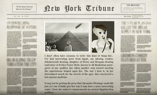 Felix Egyptian Adventure Newspaper