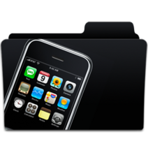 Apple iPhone 3GS and Folder from Iconspedia