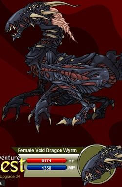 Female Void Dragon Wyrm