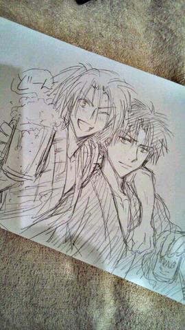 File:Both Kannagi and Akachi In a Yukata.png