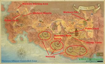 Sunbite Wilds Tour Map