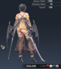Default Ridika 3D In-Game Model Back Clear Colour