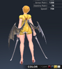 Summer Ridika 3D In-Game Model Back Colour 3