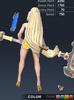 Summer Valle 3D In-Game Model Back Colour 3