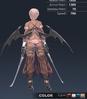Default Ridika 3D In-Game Model Back Colour 4
