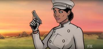 Lana with her Beretta model 70