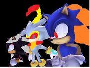 Dark Shadow Iblis and Sonic Nega