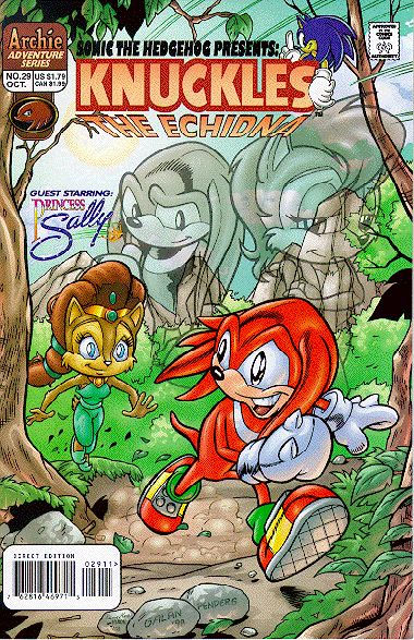 Archie Knuckles The Echidna Issue 29 Mobius