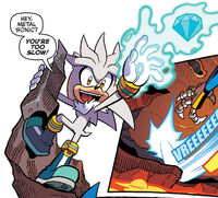 Silver taunts Metal Sonic