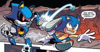 Sonic kicks Emerald