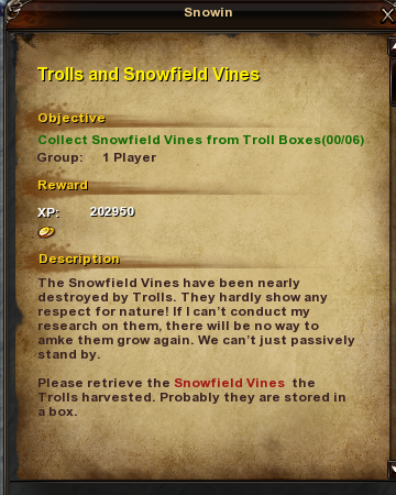 29 Trolls and Snowfield Vines