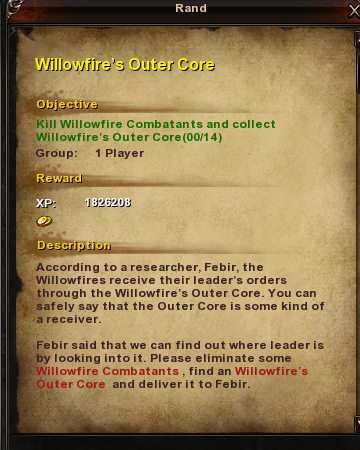 67 Willowfire's Outer Core