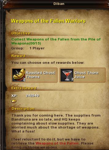 32 Weapons of the Fallen Warriors