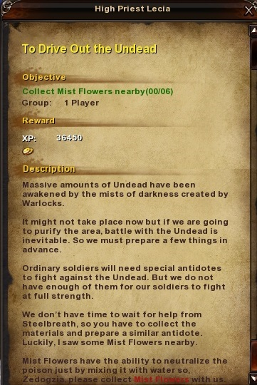 152 To Drive Out the Undead Grassy Fields Quest