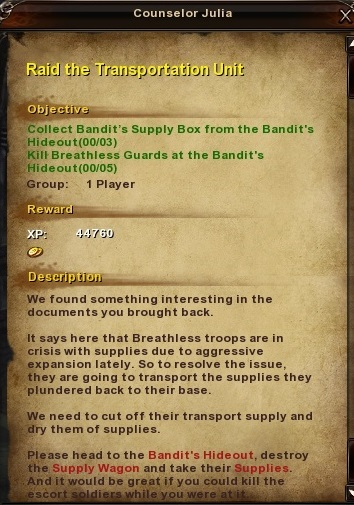 80 Raid the Transportation Unit