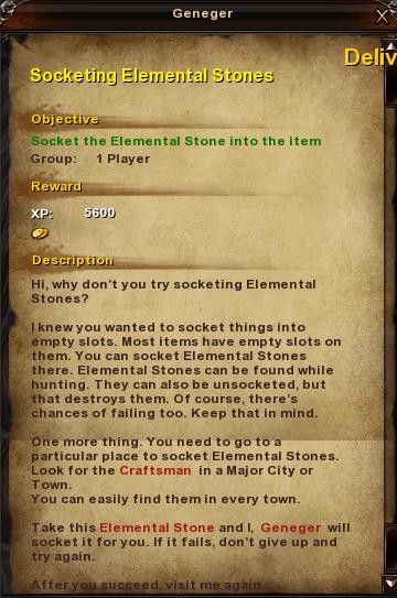 45 Socketing Elemental Stones