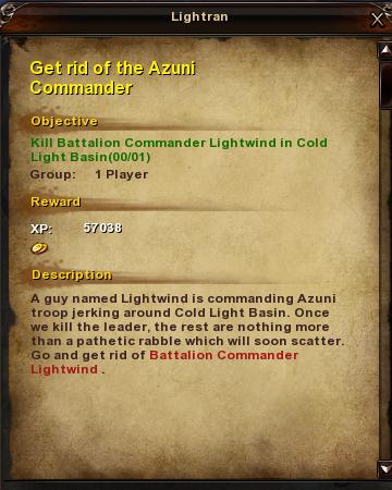 123 Get rid of the Azuni Commander