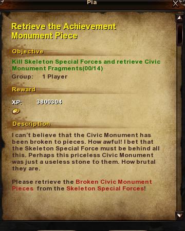 153 Retrieve the Achievement Monument Piece