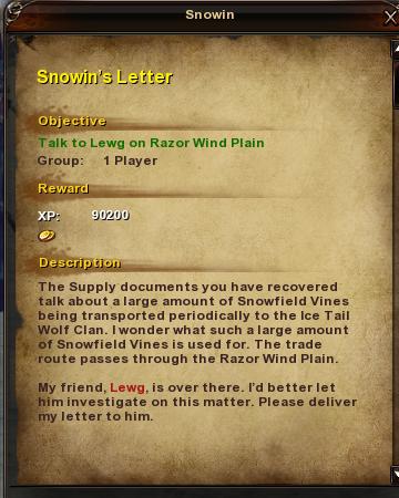 34 Snowin's Letter