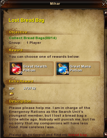 120 Lost Bread Bag