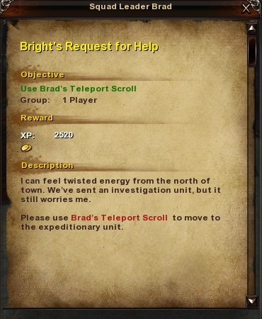 46 Bright's Request for Help