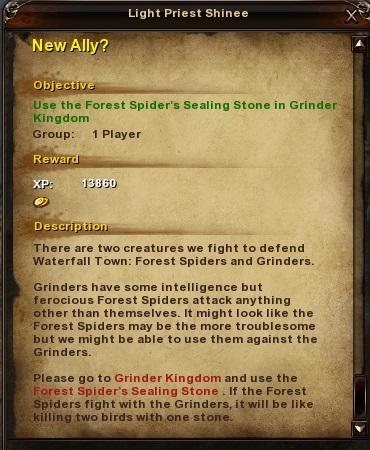 108 New Ally Grassy Fields Quest
