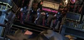 Harley shoots batman