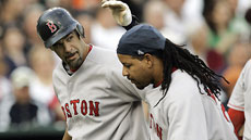 1212425875 Mike Lowell, Manny Ramirez