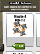 Minefield Defense