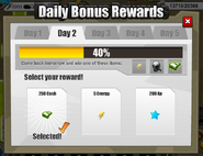 Daily bonus rewards