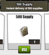 Gift supply pack content