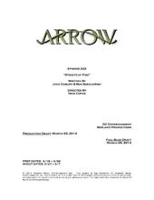 Arrow script title page - Streets of Fire
